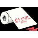 64 mm, wax TTR páska, černá