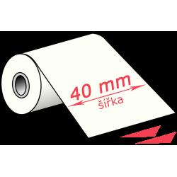 40 mm, wax TTR páska, černá